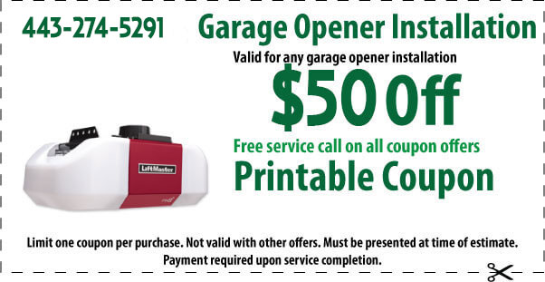 garage coupons printable